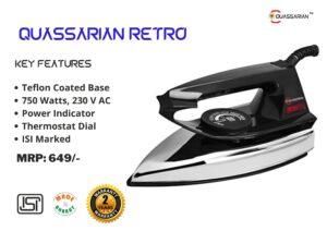 Quassarian Innovations Quassarian Retro Black Electric Iron